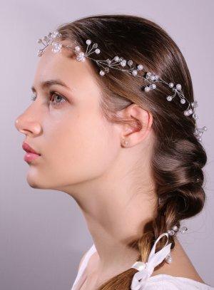 guirlande cheveux perles tresse mariage bohème
