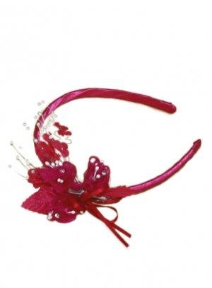 serre tête rose fushia