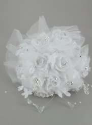 bouquet de mariée artificiel blanc