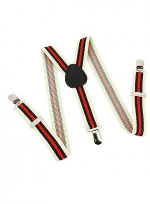 ceinture habillée et bretelles enfant blanc