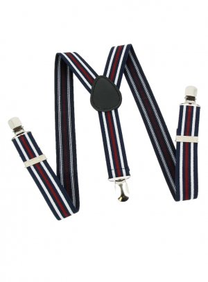ceinture habillée et bretelles enfant bleu marine