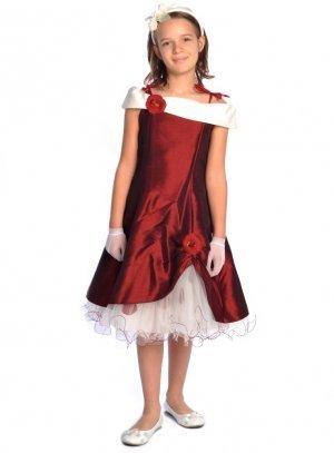 robe fille 2 - 16 ans bordeaux
