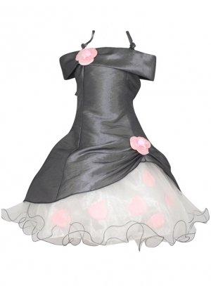 robe de cérémonie fille gris