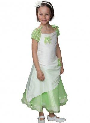 f22d85eb6bd37 FIN DE STOCK - Robe demoiselle d honneur fille vert anis écrue b4053vrta