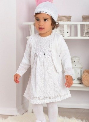 98e58486e6d0d Robe de baptême bébé fille pas chère Carole blanche