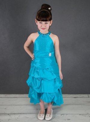 249817b5f71fb FIN DE STOCK - Robe de cérémonie fille bleu turquoise Martha