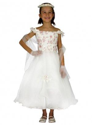 f683104504079 FIN DE STOCK - Robe cortège mariage pour demoiselle d honneur enfant bas  prix - b4207
