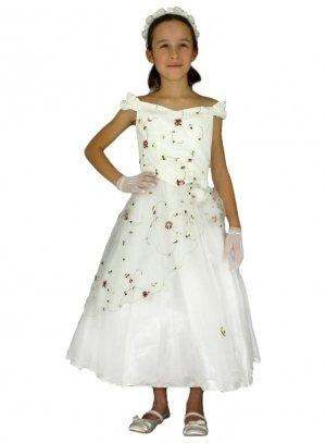 df7ecc594104a FIN DE STOCK - Robe de cérémonie pour fille brodée de fleurs et pas chère -  b4210
