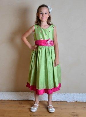 b78ac005304d5 FIN DE STOCK - Robe de demoiselle d honneur enfant mariage communion  baptême - b4218
