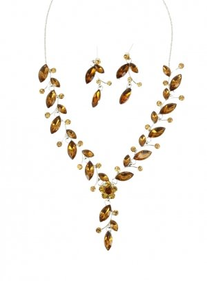 bijoux de soirée marron