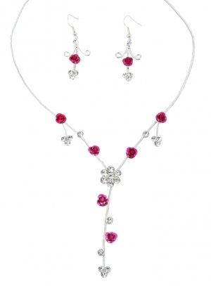 bijoux de soirée rose fushia