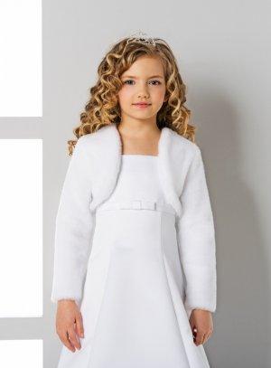 c8706a8ad8c4a veste fourrure blanche fille mariage cérémonie soirée