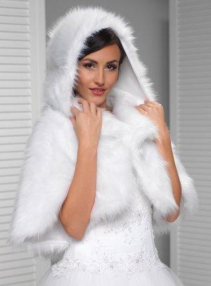 87156c93ef3 Cape avec capuche pour femme mariage hiver