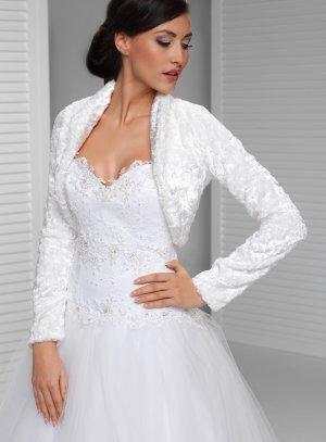 Boléro mariage pour femme en velour blanc