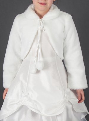 2f7b1b8588308 Manteau fourrure enfant hiver blanc ou écru pas cher bol0007