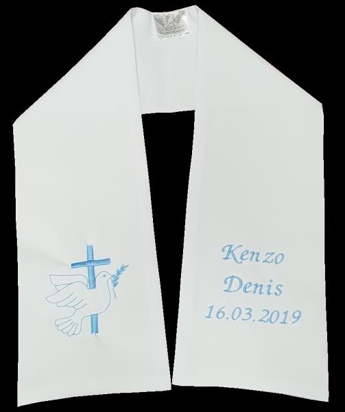 8e9b8a218b0 étole baptême blanche pour bébé