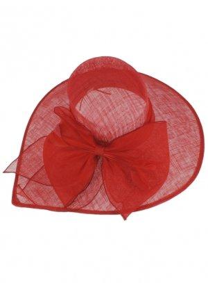 chapeaux de cérémonie femme rouge