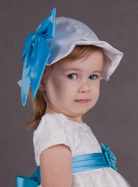 SOLDES - Chapeau blanc bébé ou fillette pour baptême ou mariage e125b07e34f