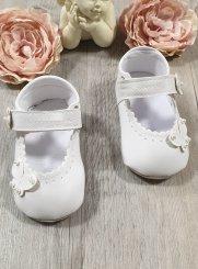 4921955b47752 Chaussure Baptême Fille et chaussons bébé blanc