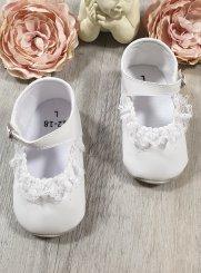 b884a48940341 Chaussure Baptême Fille et chaussons bébé blanc