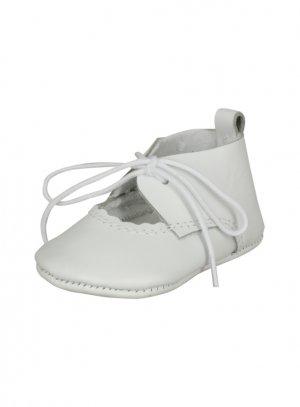 vente chaude en ligne d0491 bdfde Chaussons en cuir blanc bébé baptême fille
