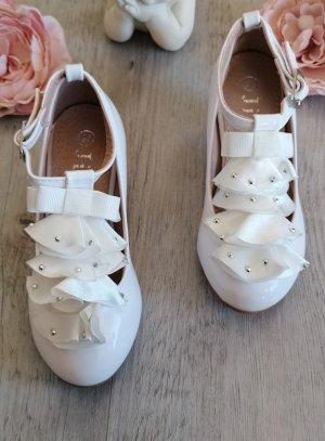 Chaussures à talon enfant blanc verni