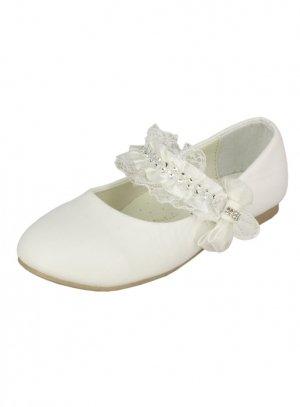 100% qualité garantie coût modéré offre Chaussures de cérémonie fille ballerine dentelle et strass