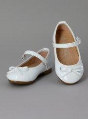 3f071b6c8bbf77 Chaussures de communion pour fille, ballerine communion blanche