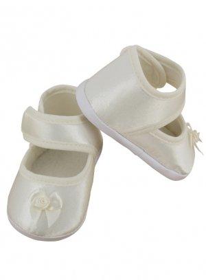 chaussures de baptême fille ivoire - ecru