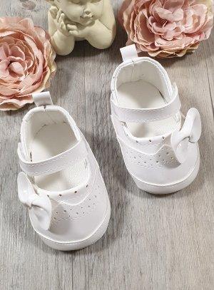 chaussures de séparation 0c1ec 3d352 Chaussons de baptême bébé fille blanches