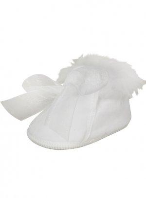chaussures de baptême fille blanc