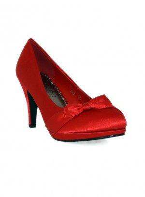 chaussures de soirée femme rouge