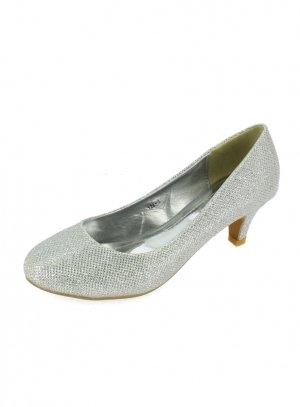 chaussures de soirée femme gris argent