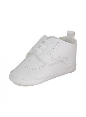 chaussures de baptême garçon blanc
