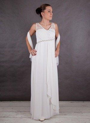 Robe longue blanche bapteme femme