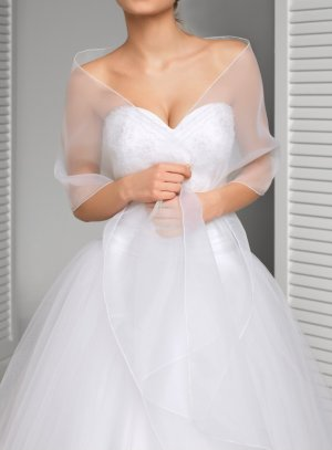 Etole organza blanche ou ivoire pour mariage baptême cérémonie femme ee3f7cd5d44