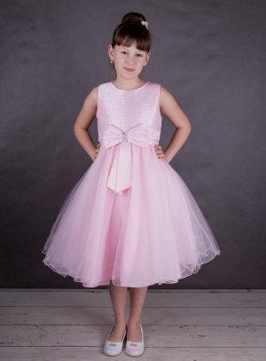 4f593711c1 SOLDES - Robe pour mariage enfant rose tulle strass f0018p