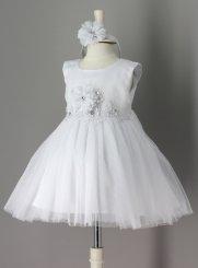 bf8d33fecc7 Robe de Baptême fille pas chère - Vêtement blanc bébé