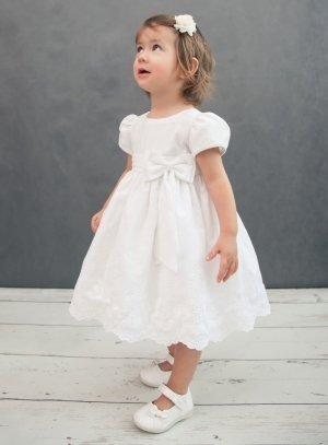 203a640a13812 Robe de baptême fille bébé coton blanche f0026