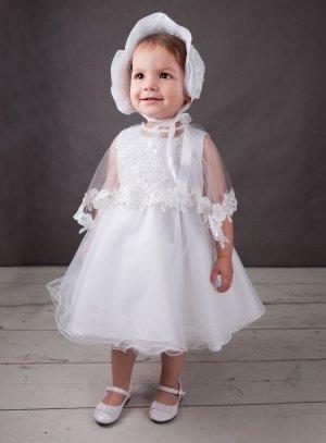 SOLDES - Robe de baptême blanche + cape + bonnet f0034 de8bd80ab77