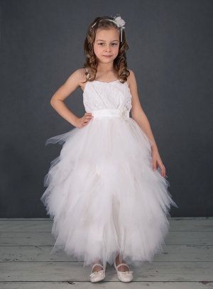 Robe de ceremonie fille blanche