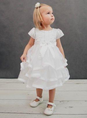 a47aff4d5fd17 Vêtement de baptême pour bébé fille Robe modèle Délicia