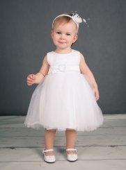 f321c6dfb0e04 Robe de Baptême fille pas chère - Vêtement blanc bébé