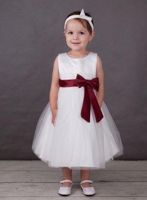 e5ef4419fdc4c FIN DE STOCK - robe de cérémonie bébé ivoire noeud bordeaux pour mariage ou  premier anniversaire