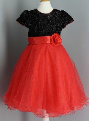 9688f83ffeb41 SOLDES - Robe de soirée mariage pour bébé fille pas chère rouge fushia ou  rose