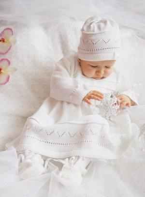 Robe De Baptême Manches Longues Bonnet Jeanne