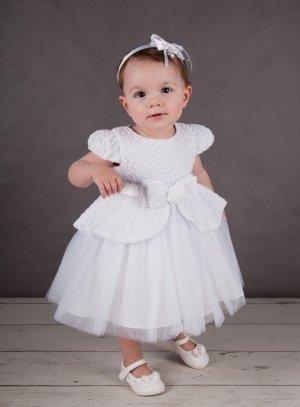 0f204723852f9 Robe de baptême princesse blanche dentelle