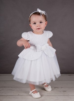 66c2cfe6f5b9d Robe de baptême princesse blanche dentelle