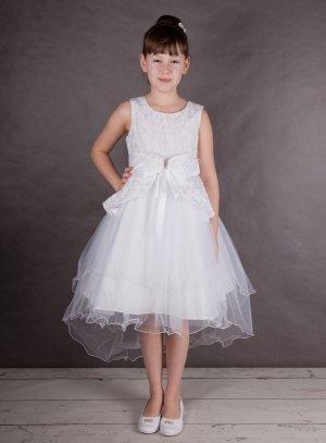 d2cf8c546f3 FIN DE STOCK - Robe de cérémonie avec traine blanche pour fille