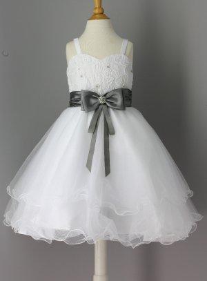 c81a0490ef2a5 FIN DE STOCK - Robe enfant pour mariage avec ceinture rose fushia ...